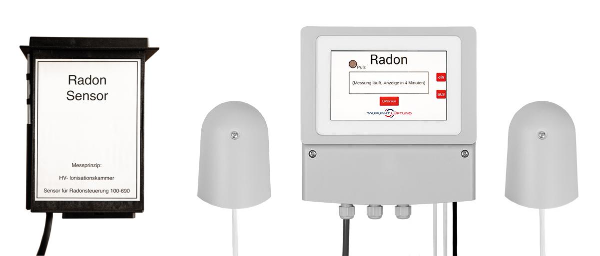 Radonlüftung mit Radonsensor