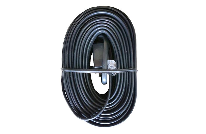 Schwarzes Kabel mit Kupplung