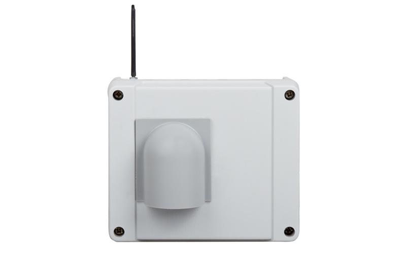 Funkaußensensor mit Antenne und Regenschutzhaube