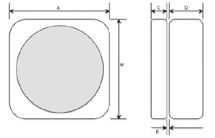 Abmessungen der drei Kellerlüfter in cm