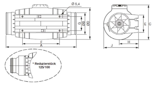 Graphische Skizze eines Schwille Rohrlüfters