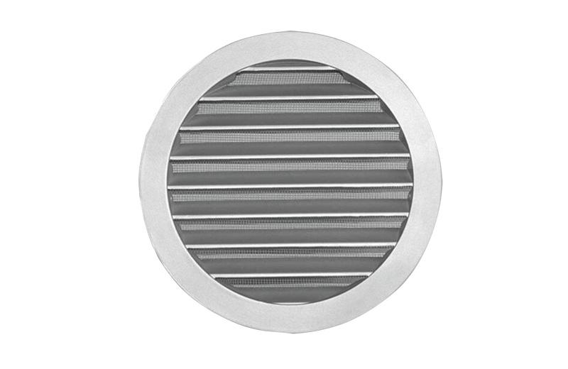 Silberne runde Abdeckung aus Aluminium