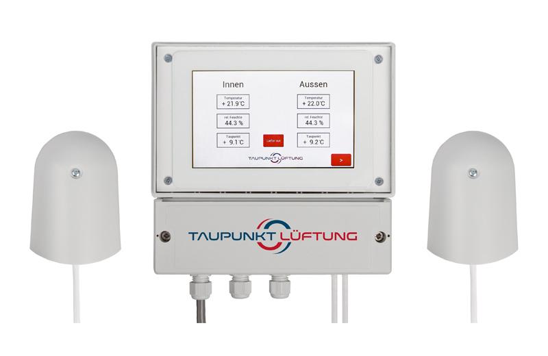 Produktbild der Taupunkt Lüftungssteuerung Touch mit zwei Sensoren